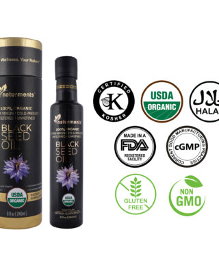 Buy USDA Certified 100% 🌿 Organic Cold Pressed Black Seed Oil, 8 oz