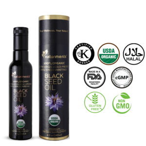 Buy Organic Black Seed Oil USDA Certified – 100% Pure – Premium Grade, Cold Pressed, 8 oz