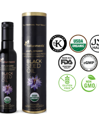 Buy Organic Black Seed Oil Premium 8oz- USDA Certified – 100% Pure Cumin Seed Oil Cold Pressed for Potency Non-GMO Vegan Gluten Free Cruelty Free Nigella Sativa Oil