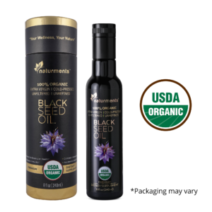 Buy USDA Certified 100% Organic Black Seed Oil – Cold Pressed, 8 oz