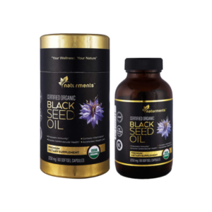 Organic Black Seed oil Softgel Capsules 1250mg / 60 Softgel Capsules, Unrefined,Cold Pressed